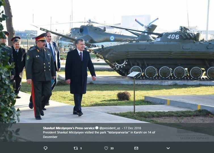 President Shavkat Mirziyoyev via Twitter