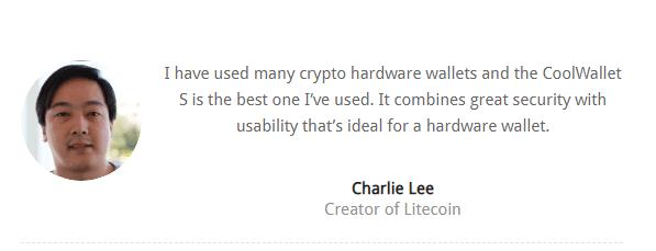 Charlie Lee Speaking on CoolBitx Wallet
