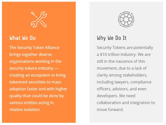 Security Token Alliance via Homepage