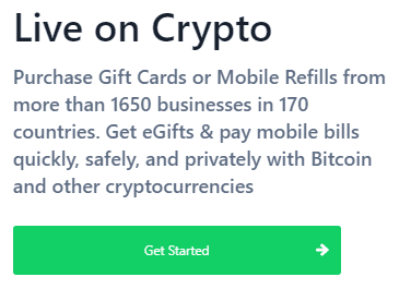 Bitrefill via Homepage