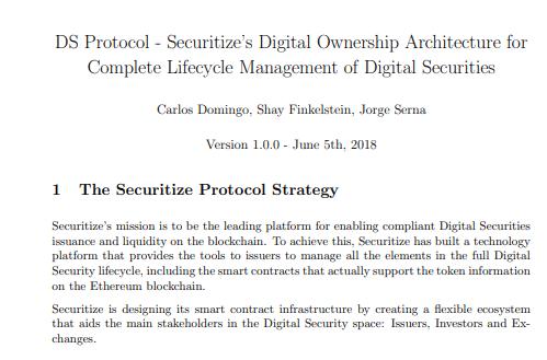 Securitize via Whitepaper