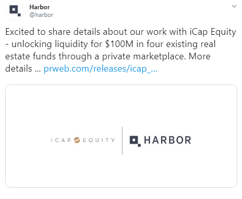 Harbor Tokenizes $100 Million in Real Estate Funds via Twitter