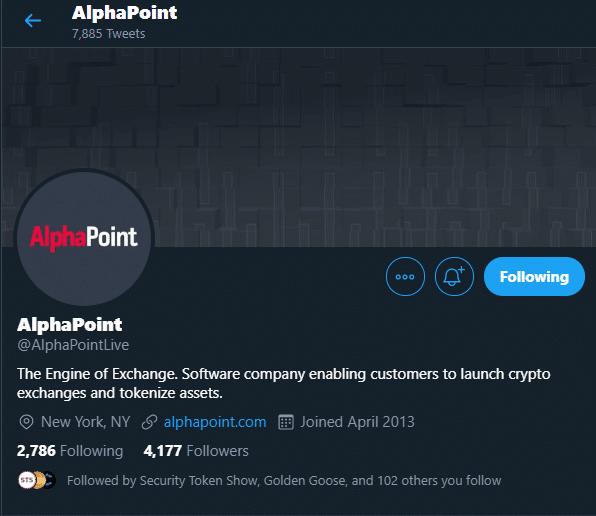 AlphaPoint via Twitter