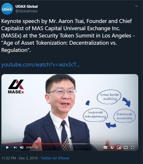 MASEx Founder Aaron Tsai via Twitter
