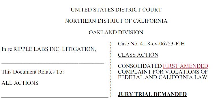 XRP Ripple Lawsuit