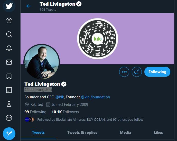 Ted Livingston - CEO of Kik Interactive - Kin Director